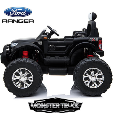 24V Ford Monster truck kids electric ride on car (Black) ride on car, 4 Wheel drive and Rubber tyres