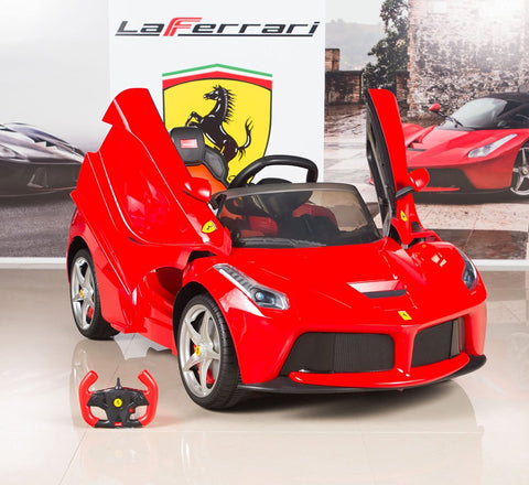 Image of 12V Ferrari kids ride on car - SA SCOOTER SHOP