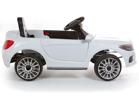 Image of C Class replica 12V Battery Powered Kids Ride on Car White with Parental Control