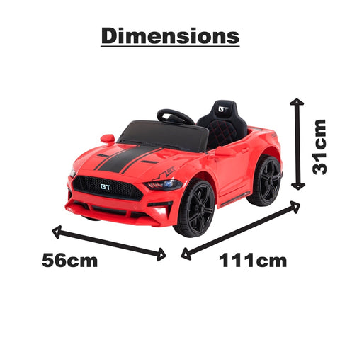 Image of Demo 12V Mustang replica kids electric muscle ride on car, with remote control