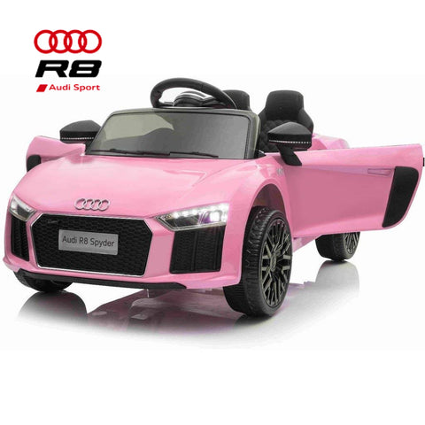 Image of 12V Audi R8 kids electric ride on car - pink