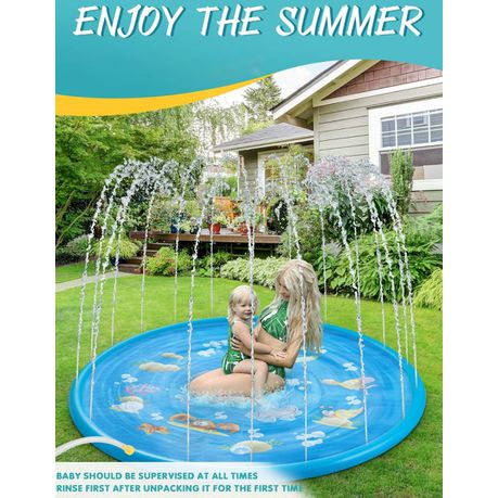 Sprinkler for Kids, Splash Pad, and Wading Pool Blue