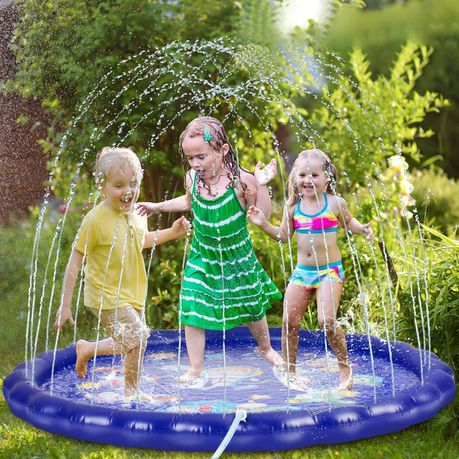 Sprinkler for Kids, Splash Pad, and Wading Pool Navy Blue