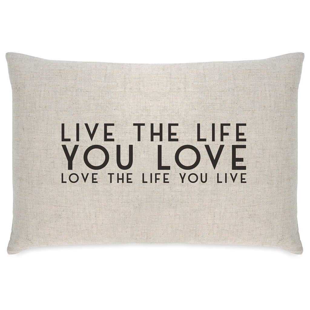 East of India Live the Life Long Cushion