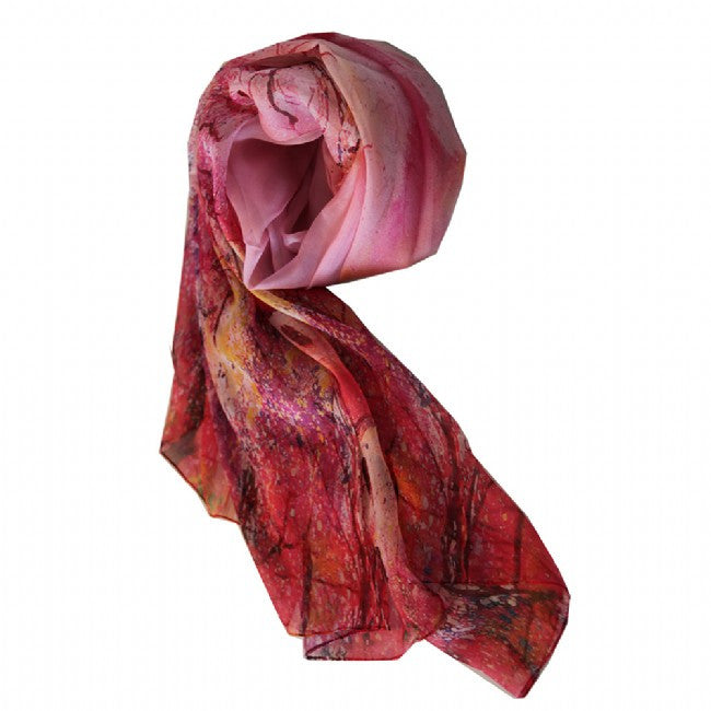 Red Blossom Trees Scarf