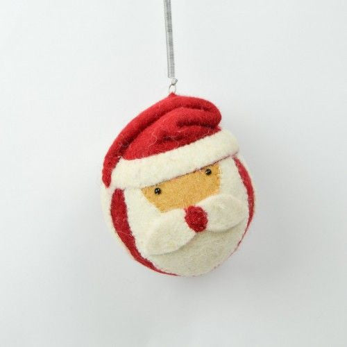 Batu Hanging Santa with Red Pointy Hat