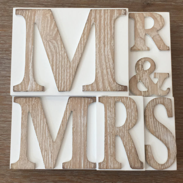 Mr & Mrs Wood Wall Plaque