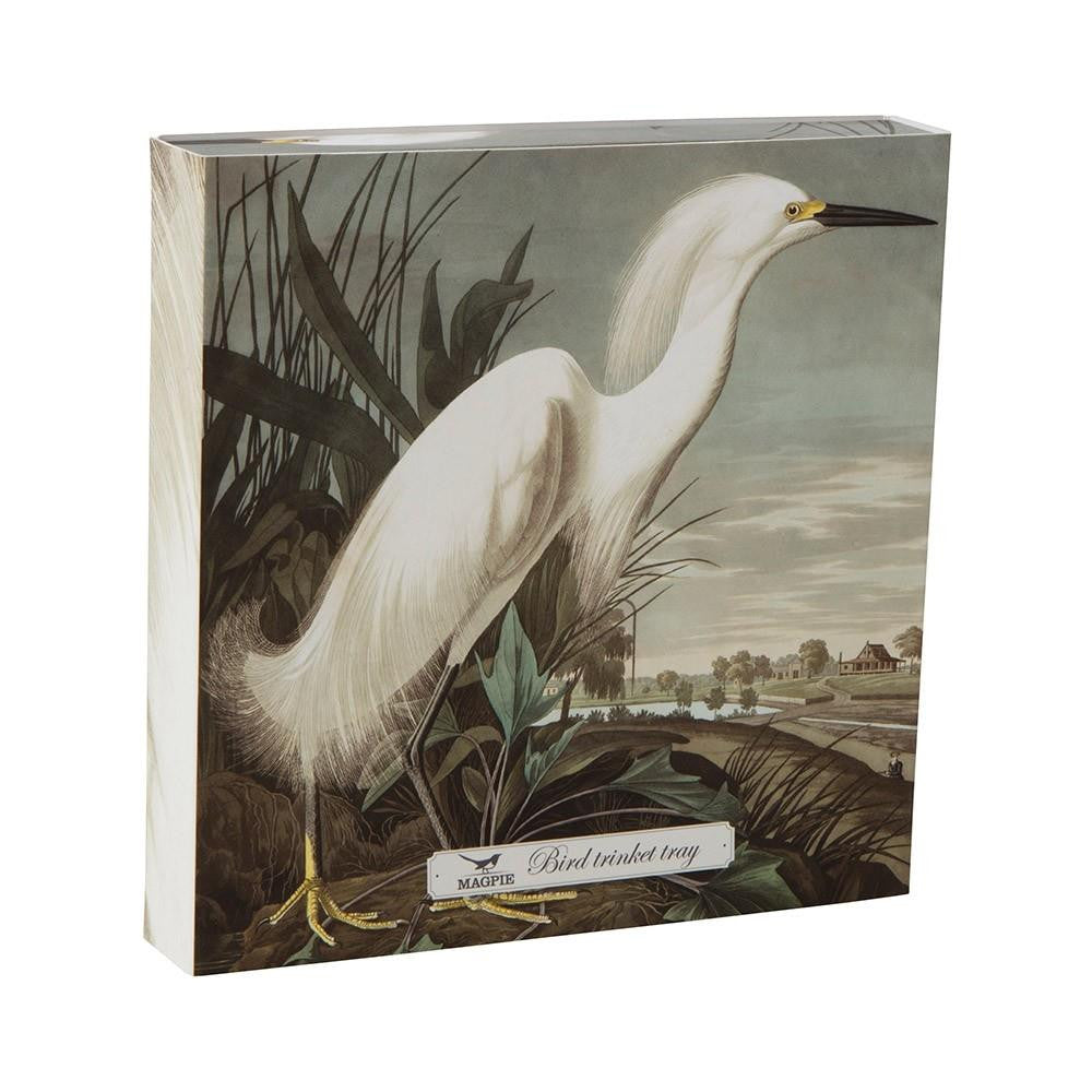 Cubic Large Snowy Heron Trinket Tray Gift Box