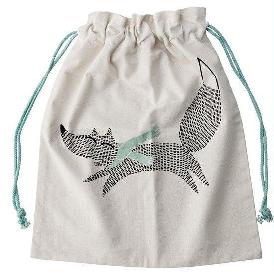 Fox Storage Bag, Mint