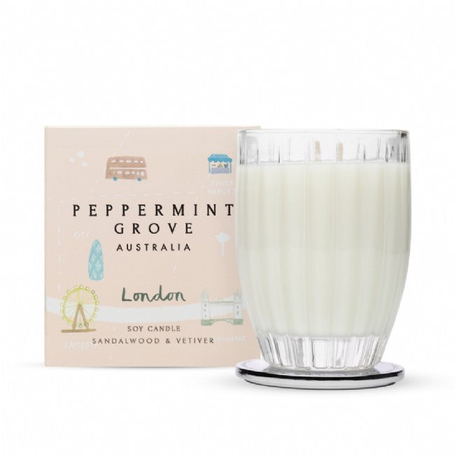 Peppermint Grove London Sandalwood & Vetiver Candle