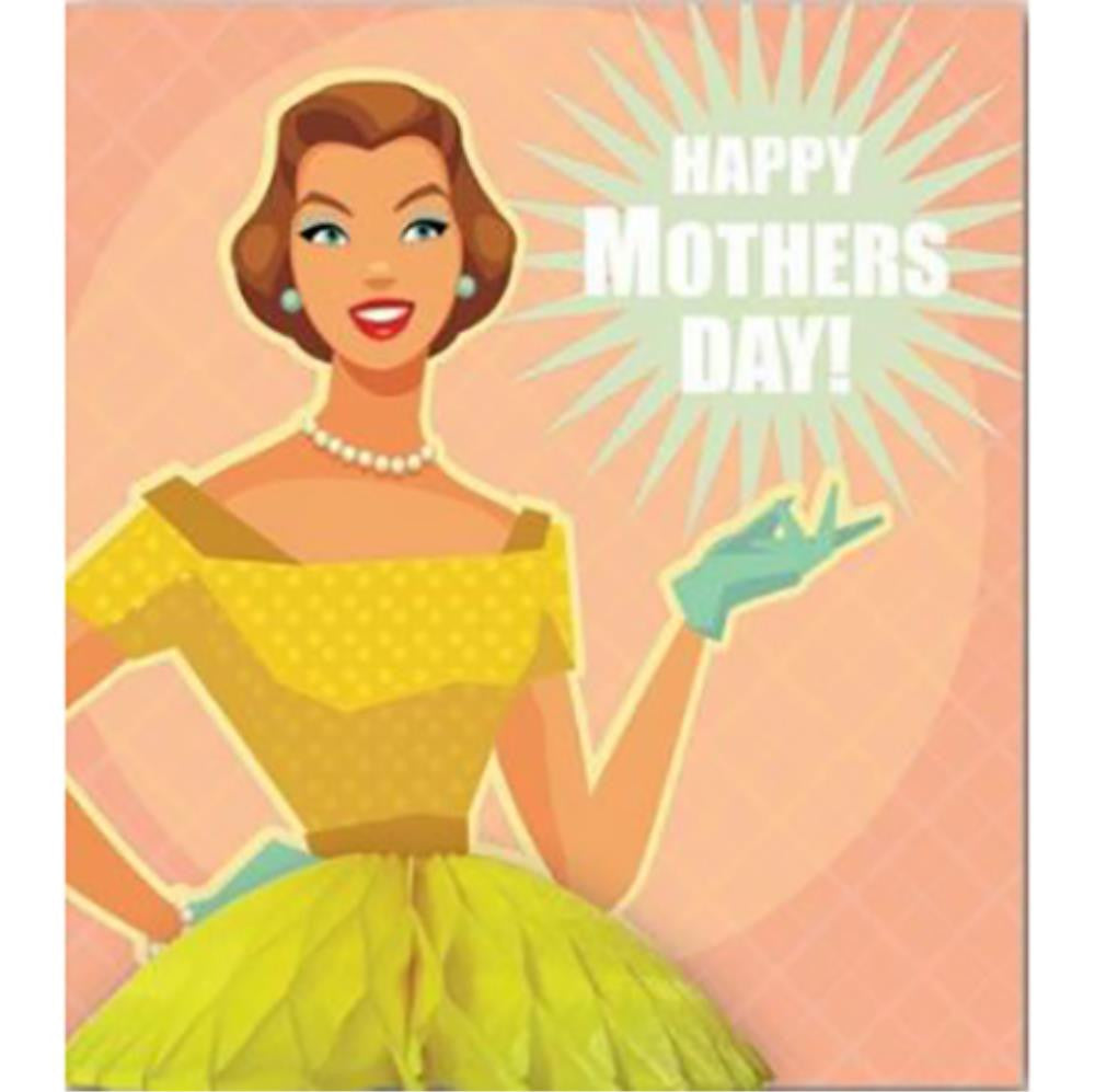 Pulp Honeycomb Mother'S Day Yellow Dress Card