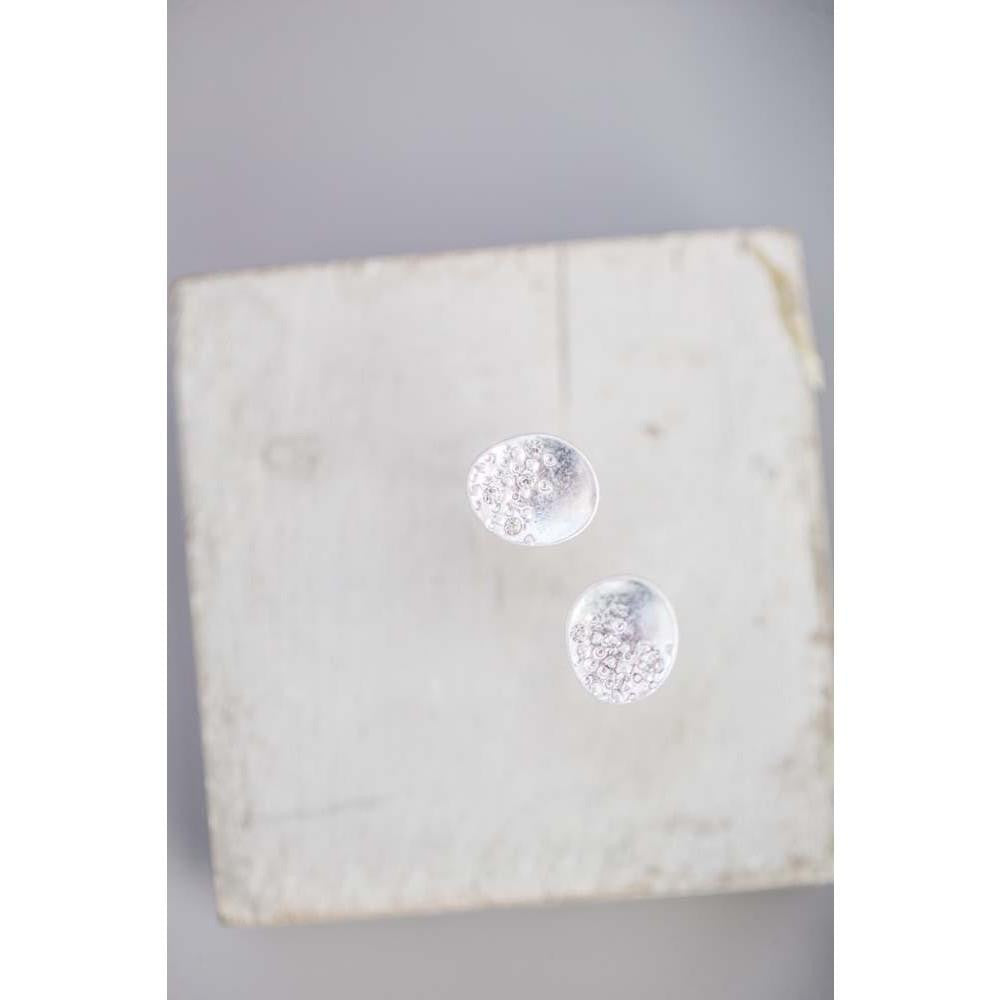 Tutti & Co Lorna- Dot And Crystal Disc Stud Earrings