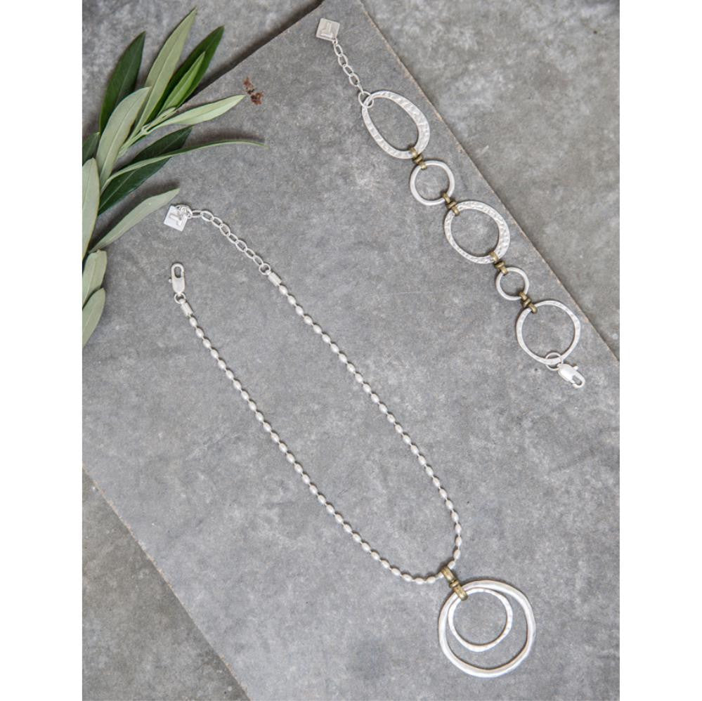 Tutti & Co Mila Short Open Ring Pendant Necklace