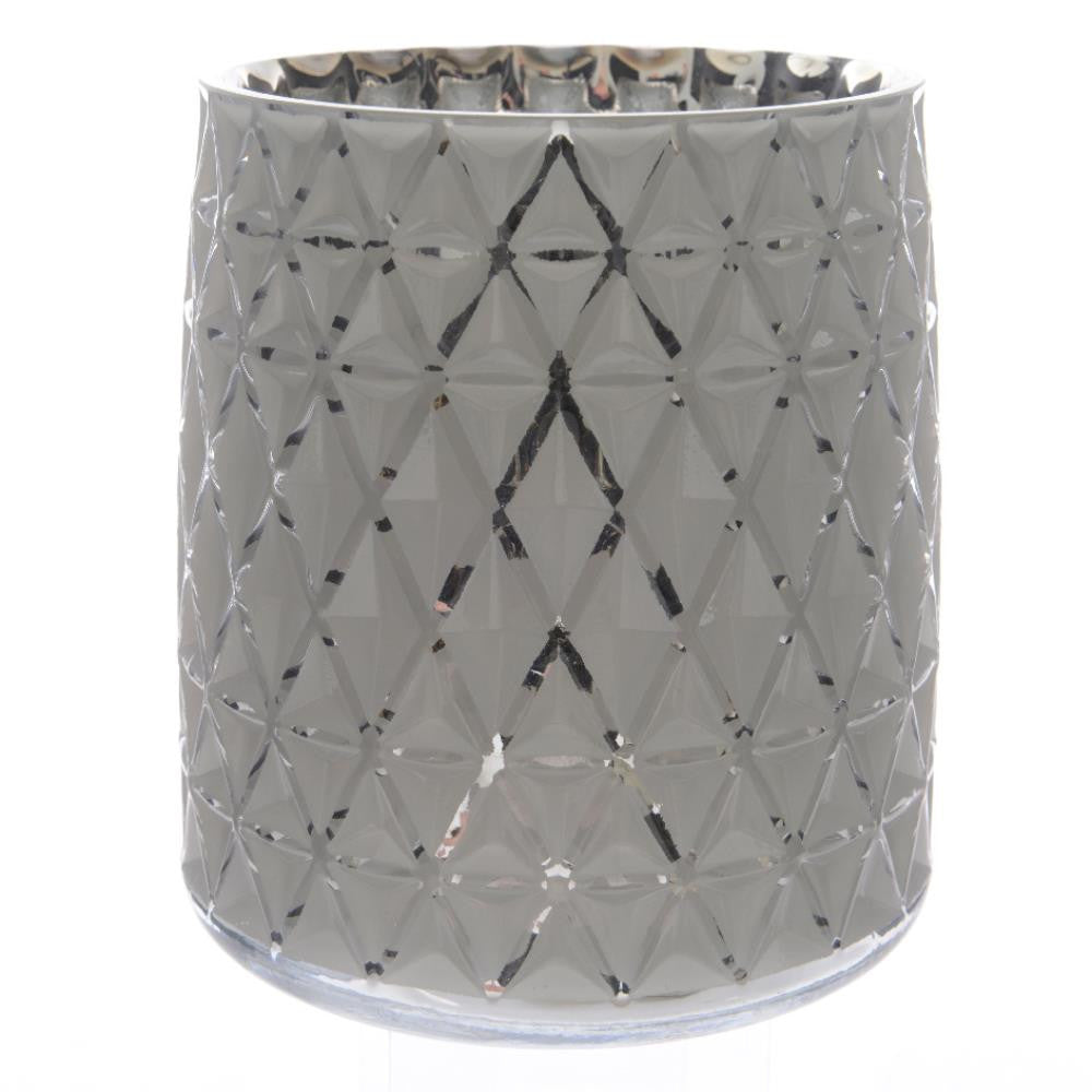Hurricane Candle Holder in White
