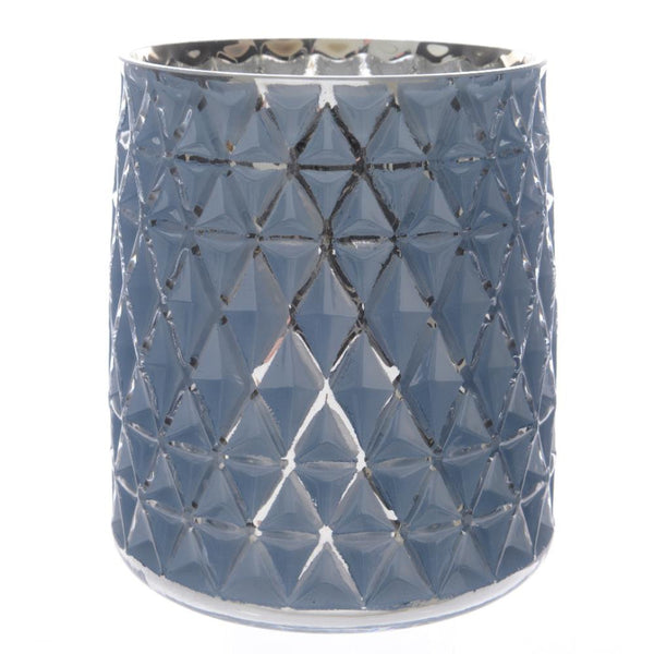 Hurricane Candle Holder in Blue
