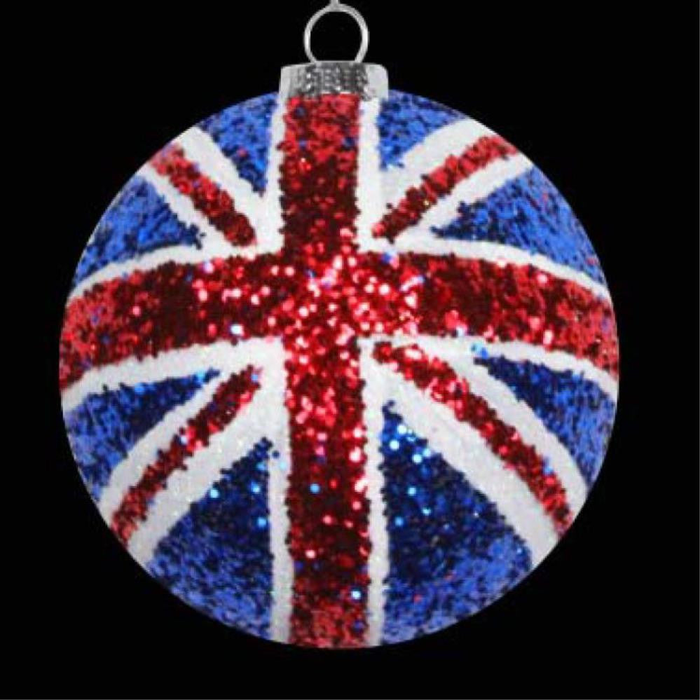 Glitter Union Flag Ball