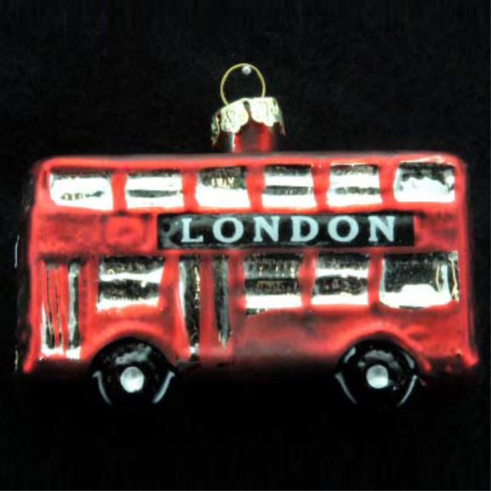 Painted Glass London Bus Decoration