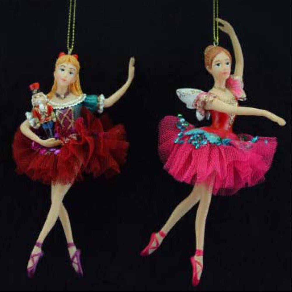 Nutcracker Resin/Fabric Clara/Ballerina Dec, 2a