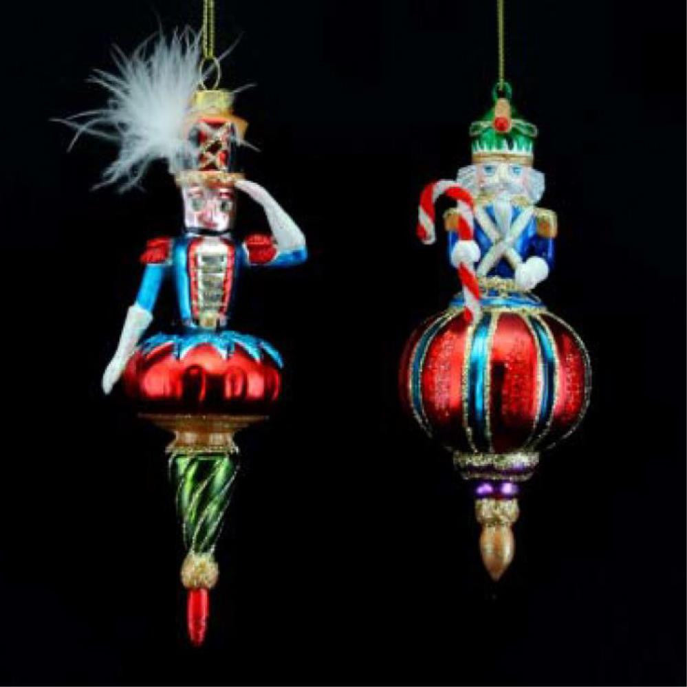 Nutcracker/Soldier Resin/Glass Dec, 2as