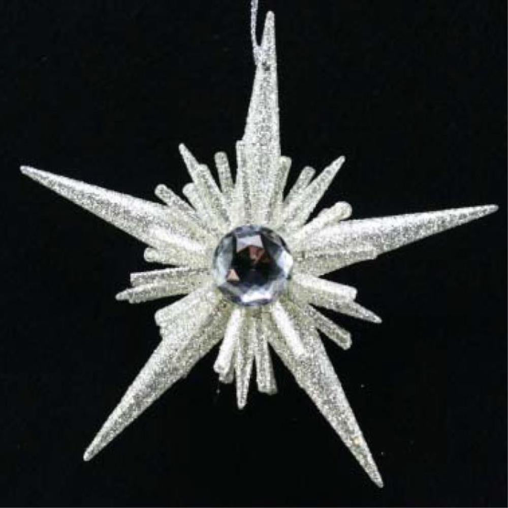 Pale Silver 5-Point Starburst Decoration