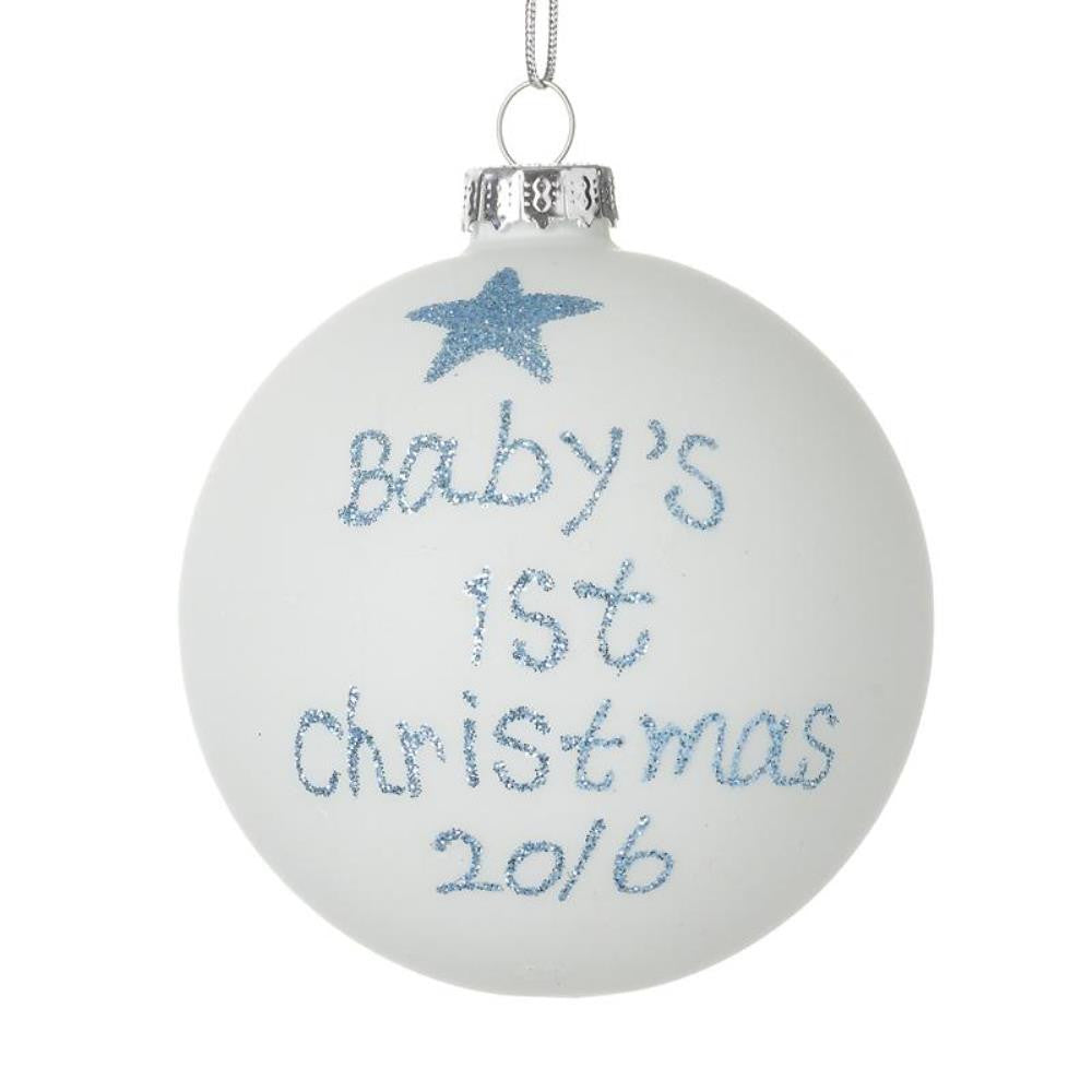 Baby's 1st Christmas 2016 Bauble, Blue