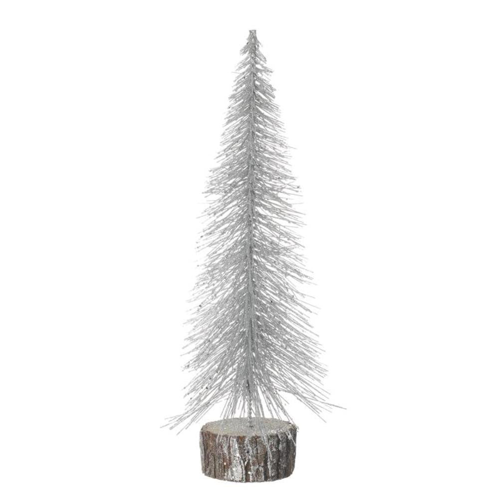 Medium Silver Glitter Christmas Tree