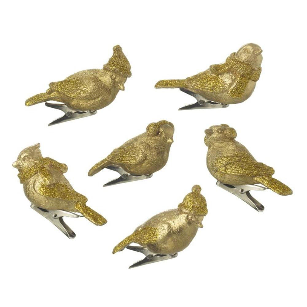 Gold Resin Clip on Birds