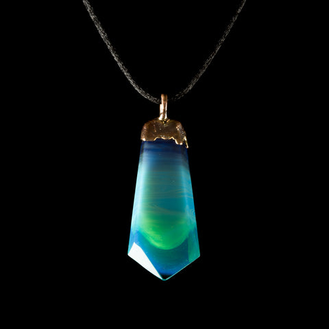 Northern Waters Faceted Transparent Fade Crystal Pendant II