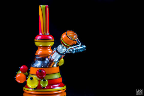 Pirate Glass Spoon Rasta Fade