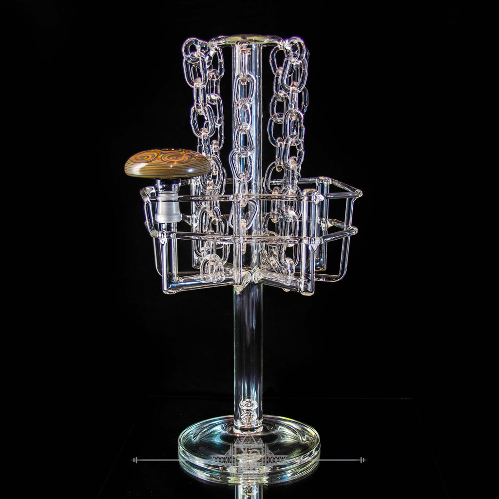 Rad Glass Frisbee Golf Basket Rig