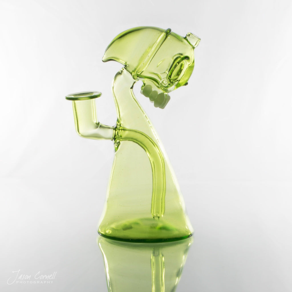 Annealed Innovations Thomas Transparent Green & UV Skull Reaper