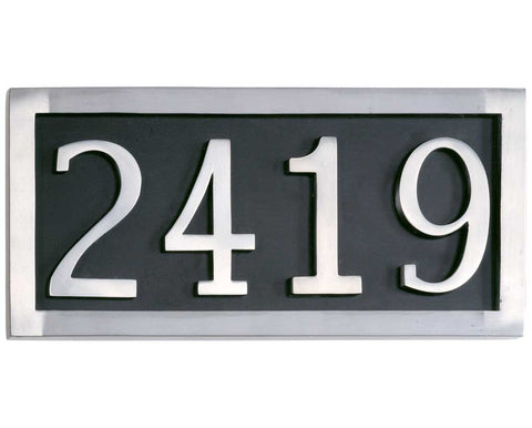 Four Numeral Customized Address Marker Plaque