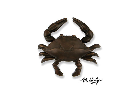 Blue Crab Door Knocker with Oiled Bronze Finish - MH1154