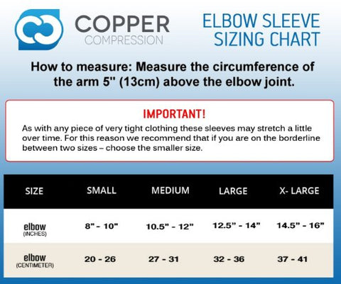 Elbow Sleeve Size Guide