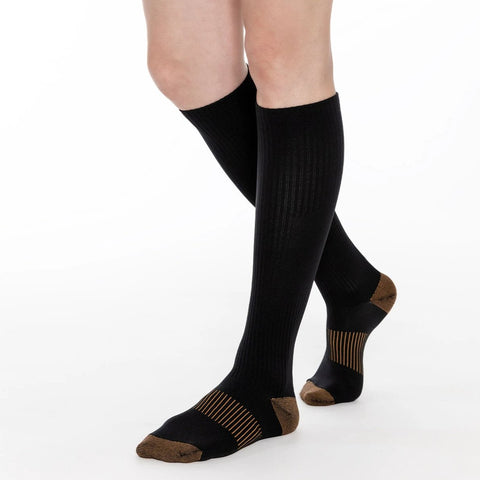Copper Compression Knee High Support Socks