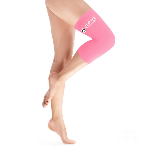 Copper Compression Colored Knee Sleeve in Pink