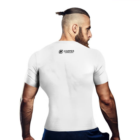Copper Compression Mens Short Sleeve T-Shirt in White