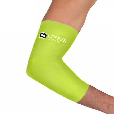 Copper+Zinc Elbow Brace Sleeve In Neon Safety Yellow