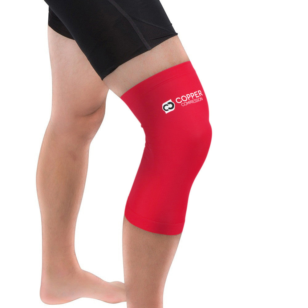 14b6210bbf Copper Compression Colored Knee Sleeve in Red. Please upgrade to full  version of Magic Zoom Plus™