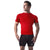 Copper Compression Mens Short Sleeve T-Shirt in Red