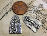 Handcrafted Pewter Charms, Artisan Handmade Jewelry Making Components, People Figures, Diy Crafting, Hand Cast Pewter Metal -  No. 236-CP