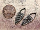 Handcrafted Jewelry Charms for Earring Making, Hand-Cast Handmade Pewter Jewellery Components, Crafting Accessories, DIY  Jewellery - 141-CD
