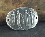 Handcast Figures Bracelet Focal Sculpted Pewter Jewelry Supply
