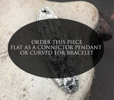 Hand Connector Bracelet Focal or Pendant, Handmade, Jewelry Making, Artisan Handcrafted Jewellery Design, Hand Cast Pewter, DIY