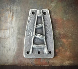 Connector Pendant, Handcrafted, Handmade, Rustic Jewelry, Hand Cast, Pewter, Artisan -  No. 97PD