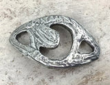 Moon Bracelet Focal for Jewelry Making, Handmade Components, Hand Cast Pewter, DIY, Craft, Artisan Handcrafted Jewellery