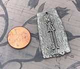 Polished Figure Pendant - Girl, Artisan Handcrafted Jewelry Making Components, Hand Cast Pewter, DIY Crafting Womens Jewellery No. 105-PP