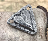 Polished Heart Connector Pendant, Handcrafted Jewelry Design, Handmade Jewellery Making Components, Hand Cast Pewter, DIY No. 110-PP