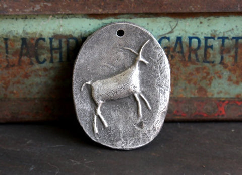 Handcrafted Cave Art Animal Pendant Handcrafted Jewelry-Making Artisan Crafting Components DIY No. 118-PD