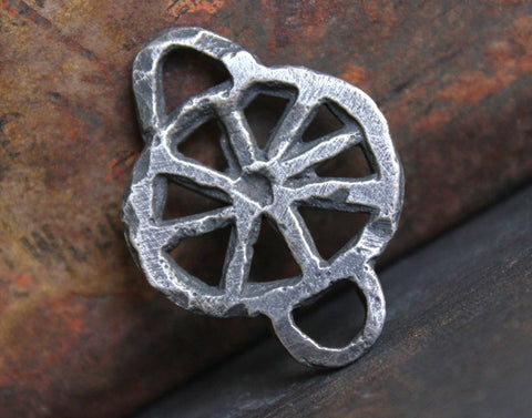 Handmade Jewelry Making Connector Pendant, Artisan Handcrafted Jewellery Components, Hand Cast Pewter, Diy Crafting - No. 125-PD